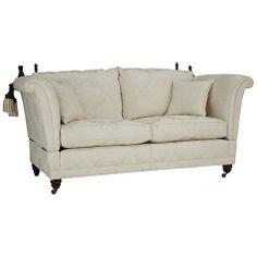 Buy Duresta Belvedere Medium Sofa Linley Damask Silver