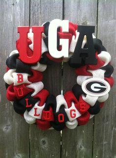 Georgia Bulldogs Wreath by LayMazingCreations on Etsy