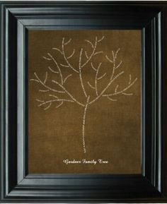 family tree - gonna try a DIY version of this for my baby's album