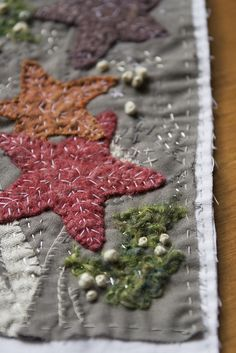 stars.  this has great depth & doesn't have that flat look that I don't like about most applique
