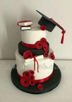 Degree cake – cake of graziastellina - Home Page College Graduation Cakes, Graduation Party Planning, Graduation Cupcakes, Graduation Celebration, Graduation Party Decor, Lawyer Cake, Occasion Cakes, Custom Cakes, Party Cakes
