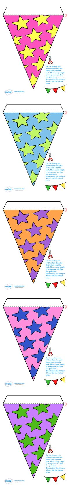 Twinkl Resources >> Display Bunting Stars >> Thousands of printable primary teaching resources for EYFS, KS1, KS2 and beyond! bunting, display bunting, classroom bunting, decorative bunting, royal wedding, classroom display, stars,