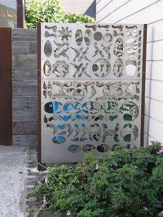 Unique garden screen