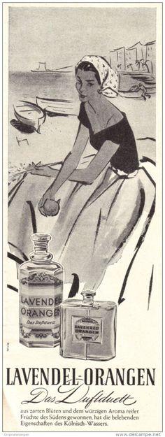 Original-Werbung/ Anzeige 1956 - LAVENDEL ORANGEN - ca. 65 x 190 mm