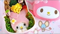 How to Make Hello Kitty Bento Lunch Box (Kyaraben Recipe) キティちゃん弁当 (キャラ弁) - YouTube
