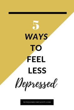 Depression can be crippling but it does not have to be a life sentence for unhappiness. Read for help finding ways to feel a little less depressed today.