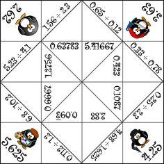 Fortune Teller - Dividing Decimals