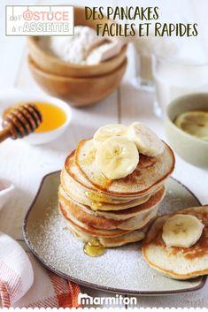 Retrouvez toutes les astuces de Marmiton pour réussir à coup sûr votre recette facile et rapide de pancake - vu sur TF1, dans « De l'astuce à l'assiette » #recettemarmiton #marmiton #recette #recettefacile #recetterapide #faitmaison #cuisine #ideesrecettes #inspiration #astuceassiette #astucescuisine #astuces #conseils #tf1 #crepes #pancakes