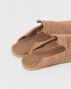 Ethical Shoes, Minimalist Shoes, Gucci, Crochet Shoes, St Agni, Leather Slip Ons, Mules Shoes, Shoe Brands, New Shoes