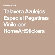 Talavera Azulejos Especial Pegatinas  Vinilo por HomeArtStickers