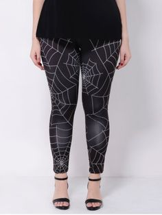 GET $50 NOW | Join RoseGal: Get YOUR $50 NOW!http://www.rosegal.com/plus-size-bottoms/stretchy-spider-web-print-leggings-828045.html?seid=1424208rg828045