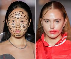 The Most Daring Beauty Moments from NYFW's Spring 2017 Runways - VFiles from InStyle.com