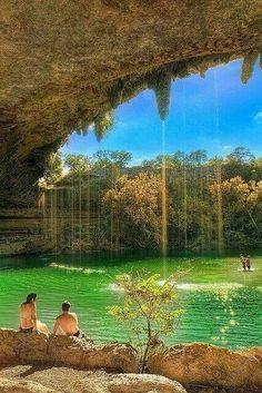 Natural pool, Hamilton, Texas.