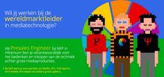 Hoe zou jij het vinden om alle – steeds meer IT-gerelateerde – technologie te bedenken, te presenteren en te realiseren voor dé partij die grote events (The Passion) en producties (The Voice) registreert en uitzendt? Dit kan bij NEP The Netherlands. Check: https://www.epeople.nl/web/presales-engineer-nep-the-netherlands-hilversum/?utm_source=pinterest&utm_medium=vacature&utm_campaign=NEP