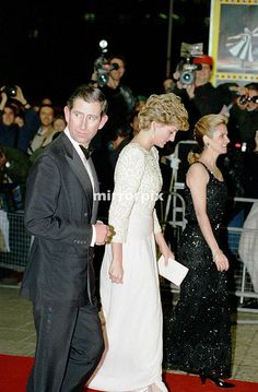 December 7, 1992: Prince Charles & Princess Diana at The Royal Variety Performance, Dominion Theatre, London.