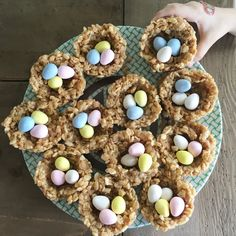 Dr. Eddie's kids' favorite Easter treat...enjoy!   Peanut Butter Birds Nests   Combine in a bowl:  3 cups Rice Krispies  1 cup shredded coconut   Mix together and bring to a boil:  1/3 cup brown rice syrup 1/2 cup brown sugar  3/4 cup peanut butter  1 tsp vanilla  Stir this into the Rice Krispies mixture and form into birds nests using a muffin tin.  When cooled, top with birds eggs (jelly beans or Cadbury Mini Eggs). #greenburgpediatricdentistry #easter www.greenburgpediatricdentistry.com