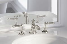 KOHLER | Artifacts Bathroom Faucets Collection | pretty option for both Master and Guest bath