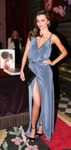 Stunning. Simple. Sexy. Silk wrap maxi dress blue.