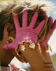 Short Pink Gloves