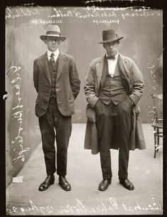 Gilbert Burleigh and Joseph Delaney – August 27, 1920. A photographic collection of civilians' run-ins with the law from the Sydney Justice & Police Museum