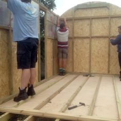 We sell a shepherd's hut kit that allows you to build your own hut. Where access is limited, you can dismantle the chassis before moving it into place.