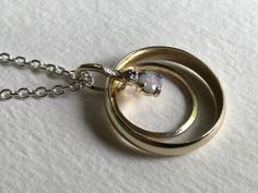 I took a customer's mother and father's wedding set and made her a necklace out of it! Old Jewelry, Metal Jewelry, Custom Jewelry, Pendant Jewelry, Jewelry Rings, Handmade Jewelry, Wedding Sets, Wedding Bands, Wedding Ring Necklaces