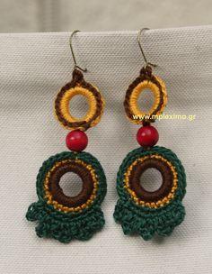 boho crocheted earrings