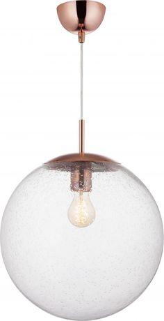 Ball 35 cm har munnblåst glass og kobber detaljer. Stilig effekt når flere henges sammen i ulike høyder, eller to i samme høyde over en kjøkkenøy. Her er det mulig å få godt lys, og ved bruk av dimmer kan man dempe etter behov og stemning. Finnes også i klart- og matt glass. Total høyde: 120 cm (kan justeres) Høyde lampe: 43 cm Diameter: 35cm Lyskilde: 1 stk. E27 maks 40w (pære medfølger ikke) Volt: 230V Materiale: metall, glass Farge: kobber, klar Vekt: 1,4kg Dimbar: JA Energiklasse: A++ - ... Tiered Cakes, Ceiling Lights, Living Room, Lighting, Pendant, Home Decor, Decoration Home, Room Decor, Hang Tags