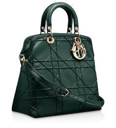 "DIOR GRANVILLE - Sac ""Dior Granville"" cuir Vert Anglais"