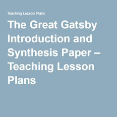 Synthesis essay lesson plans