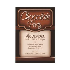 Chocolate party #partyideas