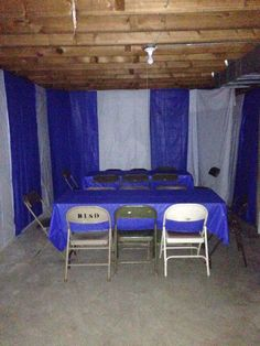 Turn Your Garage Into A Party Room For Bridal Or Baby Shower Cover Storage I