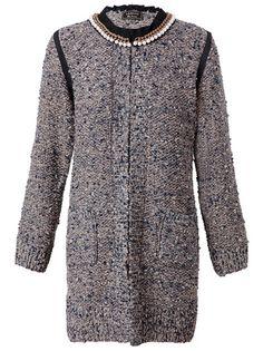 LANVIN Pearl-Embellished Bouclé-Tweed Coat