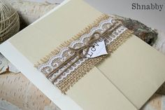 This rustic pocket fold invitation design is a perfect way to invite guests to your vintage, rustic, shabby chic, farm, or barn themed wedding. It is