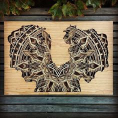Oakland-based artist Gabriel Schama creates precisely layered wood relief sculptures that are a delight to explore. Each inch piece of laser-cut mahoga Laser Cut Plywood, Laser Cut Metal, Laser Cutting, Geometric Artwork, Laser Art, Mandalas Drawing, Art Carved, Elements Of Art, Sculptures