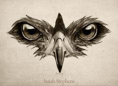 Hawk Eye Glare Art Print by Isaiah Stephens - X-Small Tattoo Drawings, Body Art Tattoos, Sleeve Tattoos, Falke Tattoo, Kopf Tattoo, Tatoo 3d, Vogel Tattoo, Realistic Eye Drawing, Tattoo Project