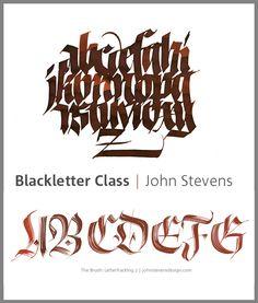 Random collection of calligraphy by John Stevens, via Behance