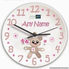 Personal Touch Gifts - Cotton Zoo Tweed the Bear Girls Clock, £32.99 (http://personaltouchgifts.co.uk/cotton-zoo-tweed-the-bear-girls-clock/)