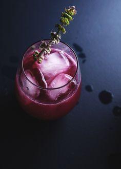 blueberry basil vodka cocktail
