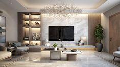 KSA   Living room on Behance Modern Tv Room, Living Room Modern, Home Living Room, Interior Design Living Room, Living Room Decor, Modern Decor, Modern Bedroom Decor, Modern Contemporary Living Room, Bathroom Modern