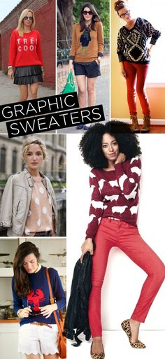 Our favorite ways to style a graphic sweater   www.theglitterguide.com