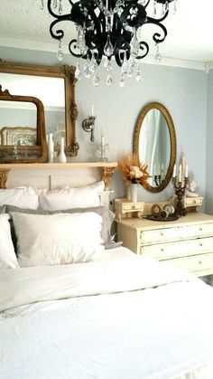 The Wall Color is Valspar Bay Waves- My master bedroom.