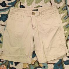 Banana Republic Stone Khaki  Shorts Stone colored shorts from BR. Perfect spring and summer wardrobe addition. Banana Republic Shorts