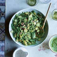 This Haricots Verts and Potato Salad with Pesto is the perfect picnic dish.