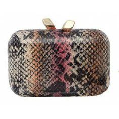 Margo Snake Print - #KOTUR #Holiday #Handbag #Clutch #Minaudiere