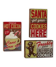 This Cocoa & Cookies Wall Art Set is perfect! #zulilyfinds