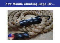 """New Manila Climbing Rope 15' with Clamp Strength Training Fitness Rope - Bomba Gear. Package Contents: 1 Bomba Climbing Rope. Specifications: Brand: Bomba Gear Length: 15' Weight: 8 lbs (approx 0.5 lbs per foot); Material: Manila; Origin: USA Descriptions: These Bomba Climbing ropes are made with pride in the U.S.A. and are clamped with care to ensure they are beyond safe. They are Grade A 1 1/2"""" Manila, which means they will handle anything everything you throw at them and more. Manila…"""
