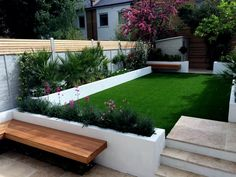 A modern or contemporary garden is characterized by a sleek, streamlined and sophisticated style. Modern garden designs draw on the simplicity of Asian design practices. Generally, a modern garden … Backyard Garden Design, Garden Landscape Design, Small Garden Design, Landscape Designs, Backyard Landscaping, Landscaping Design, Backyard Ideas, Backyard Pools, Rectangle Garden Design