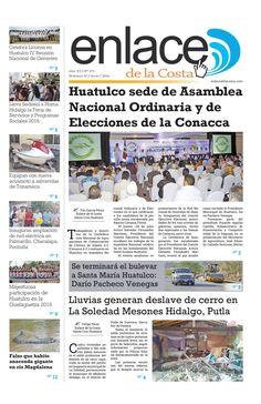 Edición 271; Enlace de la Costa  Edición número 271 del periódico Enlace de la Costa, editado y distribuido en la Costa de Oaxaca, con información de la región y sus municipios.