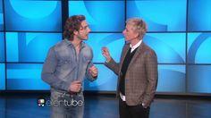Eugenio Siller en The Ellen DeGeneres Show.